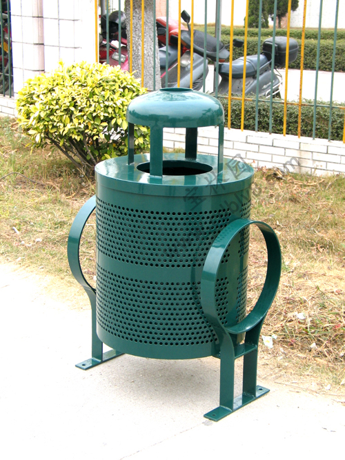 BB1-0013 全钢单桶垃圾桶