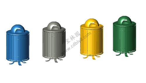 BB1-014全钢单桶垃圾桶