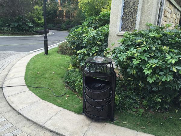BB1-038全钢单桶垃圾桶