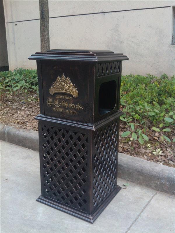 BB1-041全钢单桶垃圾桶