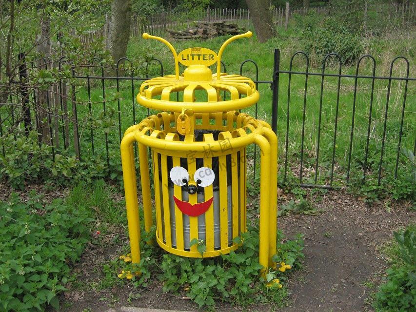 BB1-050全钢单桶垃圾桶