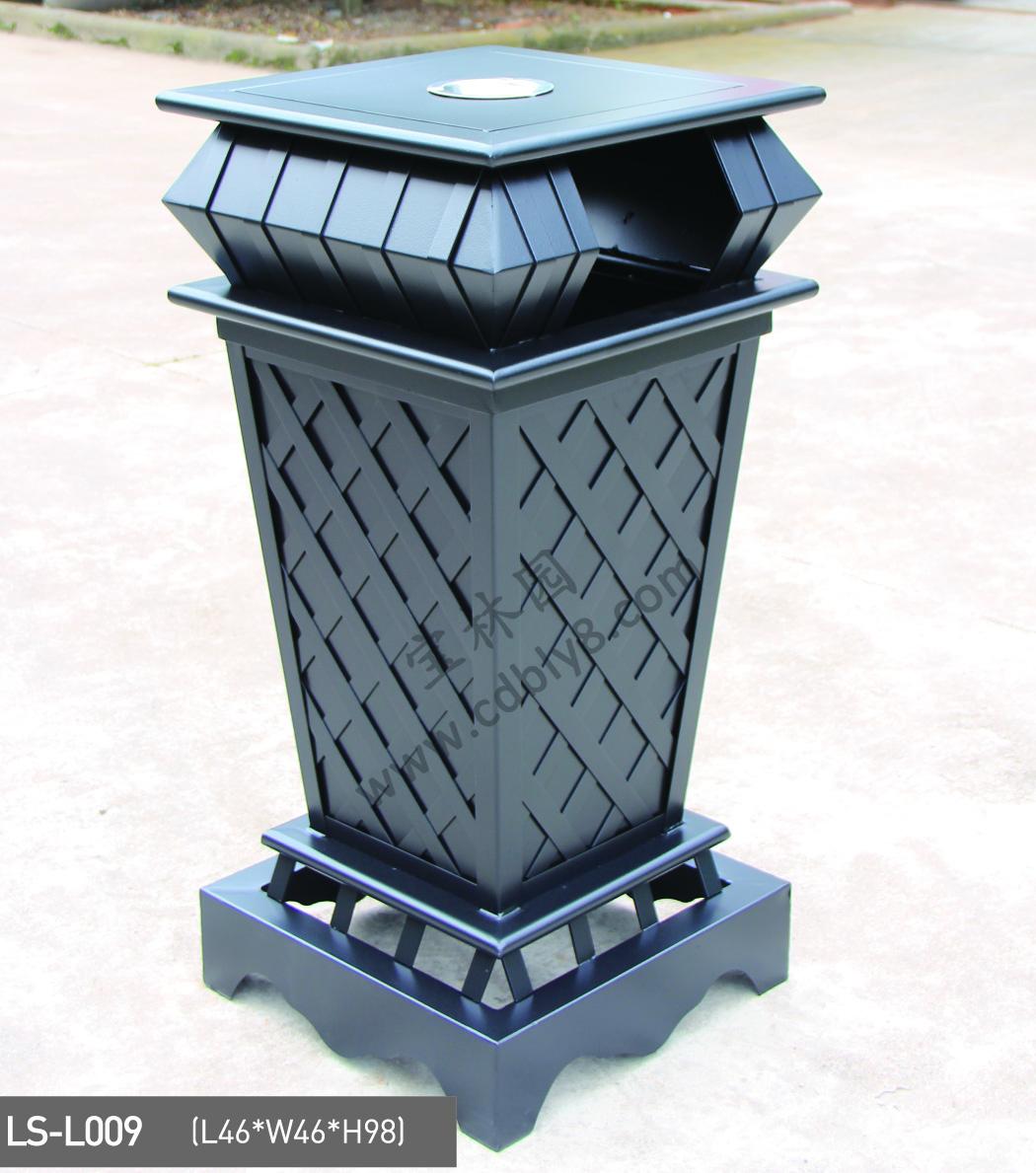 BB1-062全钢单桶垃圾桶